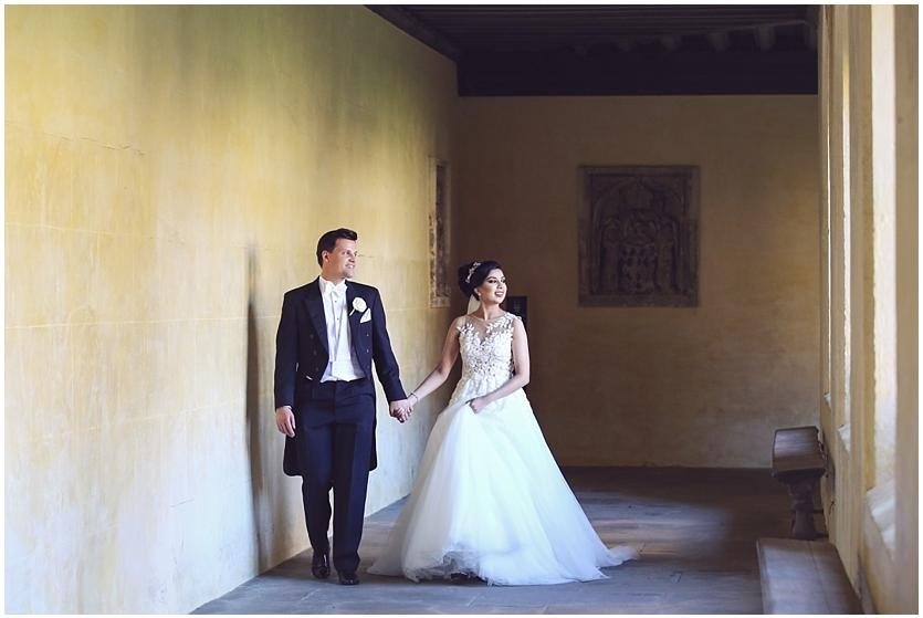bridal couple at Magdalen College